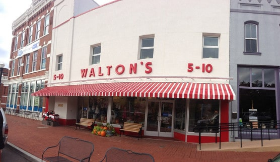 The original Walton Five and Dime in Bentonville, Arkansas, where the race starts. (Photo by Brad Holt/flickr)