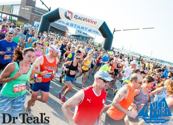 Runners leave the starting line at the Shipyard Old Port Half Marathon. (Photo courtesy Shipyard Old Port Half Marathon)