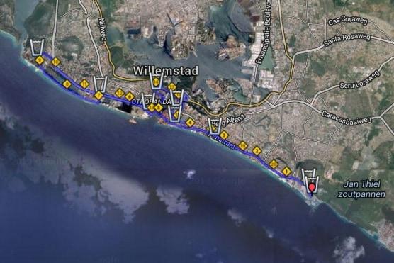KLM Curaçao Marathon course