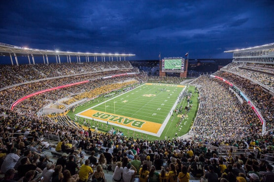 Baylor University's McLane Stadium, where the race finish line for 2015 will be. (Photo by Idibri/flickr)