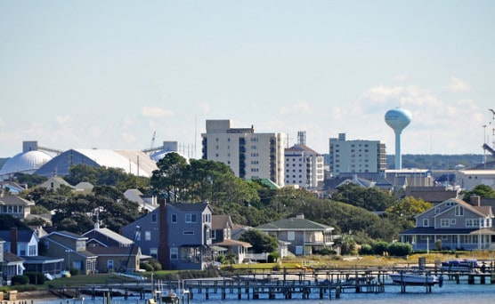A view of Atlantic Beach and Morehead City, North Carolina. (Photo by James Willamor/flickr)