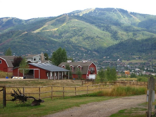 A view of Steamboat Springs, Colorado. (Photo by Ben Ramirez/flickr)