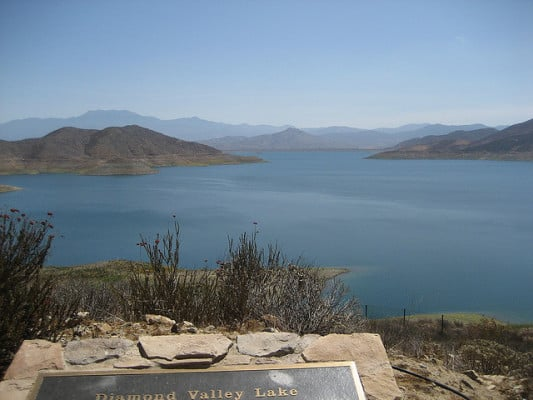 Diamond Valley Lake near Hemet, California. (Photo by Pattie/flickr)