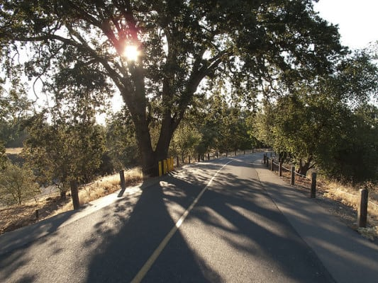 A stretch of the American River Parkway trail in Rancho Cordova, California. (Photo by Robert Couse-Baker/flickr)