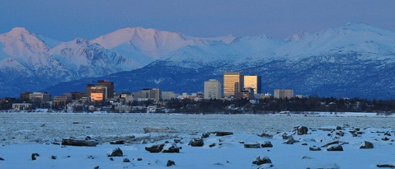 The Anchorage, Alaska skyline. (Photo by Paxson Woebler/flickr)