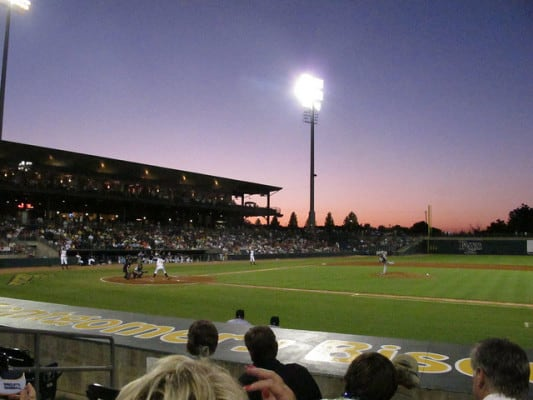 A game at the Montgomery Biscuits stadium in Montgomery, Alabama. (Photo by StretchyBill/flickr)