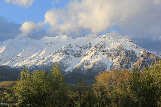 Mount Timpanogos, which looks out onto Provo, Utah. (Photo by Michael Jolley/flickr)