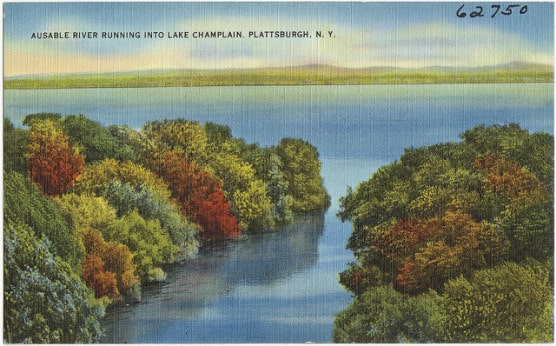 Vintage postcard of Plattsburgh, New York. (Photo by Boston Public Library/flickr)