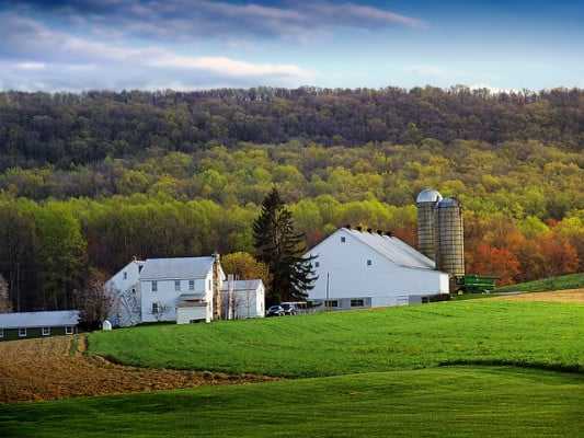 The scenery in Lancaster County, Pennsylvania. (Photo by Nicholas Tonelli/flickr)