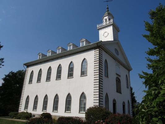 The Kirtland Temple, a national historic landmark in Kirtland, Ohio that was built by Joseph Smith and his followers between 1833 and 1836. (Photo by Ken Lund/flickr)