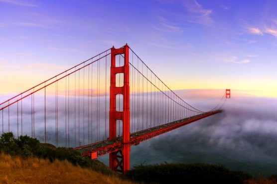 You can run across the Golden Gate Bridge at several of San Francisco's annual half marathon races. (© Kyle Simpson | Dreamstime.com)