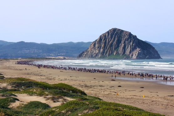 Another reason why running is the best? Because it can take you to places like this race near Morro Bay, California. (© Judwick | Dreamstime.com)
