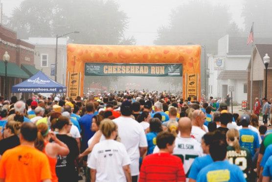 The starting line at the 2014 Cheesehead Run. (Courtesy Cheesehead Run)