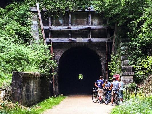 The tunnel on the Elroy-Sparta Trail. (Photo by Kenneth Casper/flickr)