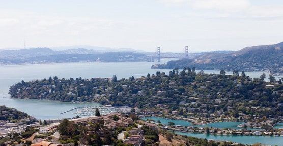 View of Tiburon and San Francisco Bay. (Photo by Didier Bigand/flickr)