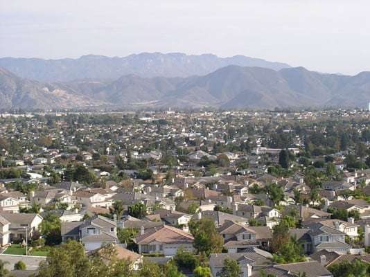 Photo of Camarillo, California, taken from a hillside overlooking town. (Wikimedia)