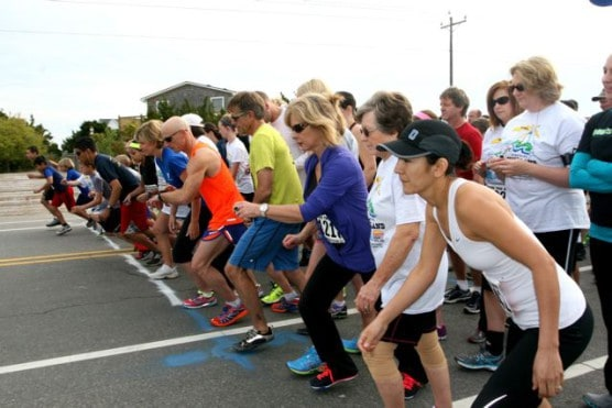 Runners at the start of the 2015 Ocracoke Island 5K & 10K.