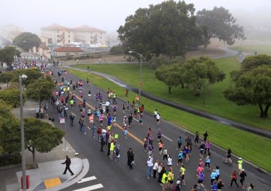 Runners trek the streets of San Francisco at the 2013 Nike Women's Half Marathon. (© Tatiana Morozova | Dreamstime.com)