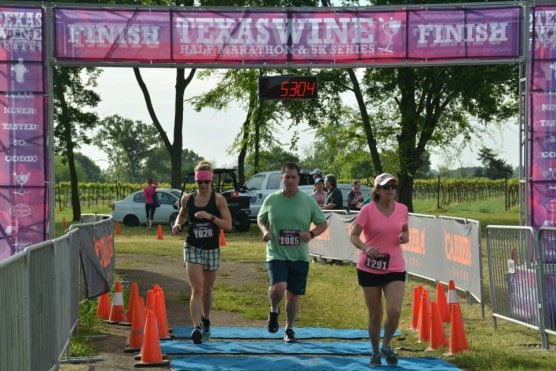 And the finish line at the 2015 race. (Photo courtesy Texas Wine Series)