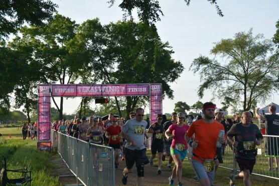 The starting line at the 2015 Texas Wine Series at Kiepersol Wine Farm Half Marathon. (Photo courtesy Texas Wine Series)