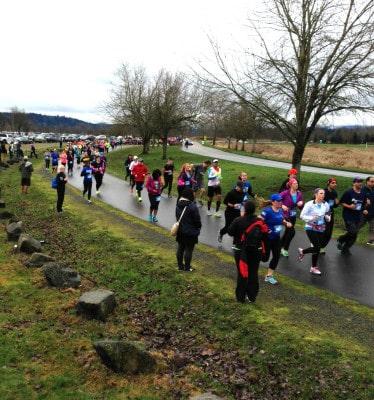 Rain Run Half Marathon participants