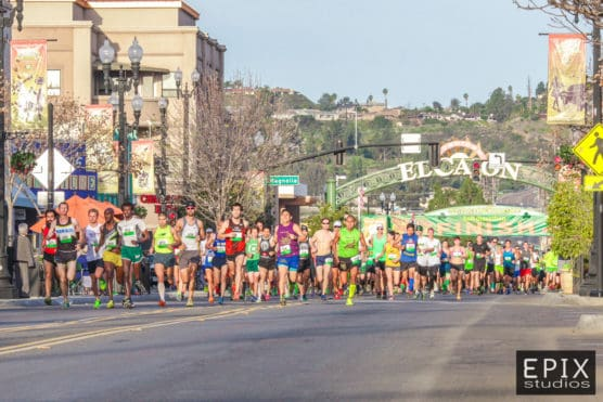 The start line. Photo courtesy of the St. Patrick's Day Half staff.