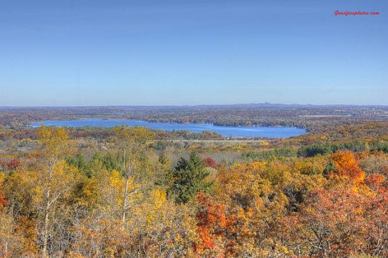 The view from the Lapham Peak tower in the Kettle Moraine State Forest. (Photo by Yinan Chen/flickr)