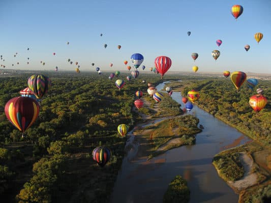 View of the annual Balloon Festival in Albuquerque, New Mexico. (Photo by Larry and Linda/flickr)