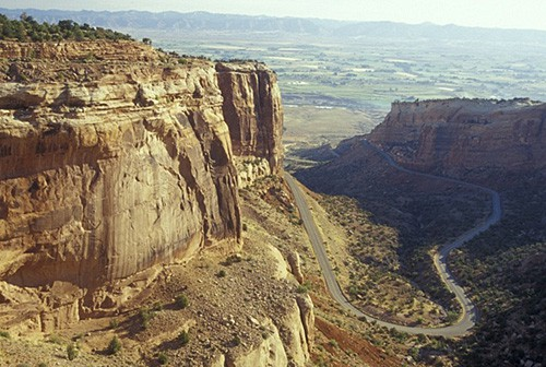 Rim Rock Drive from above, inside Colorado National Monument. (Photo by Mark Goebel/flickr)
