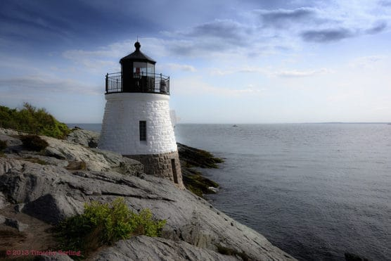 View of the Castle Hill Lighthouse along the coast of Newport, R.I. (Photo by Timothy Burling/flickr)