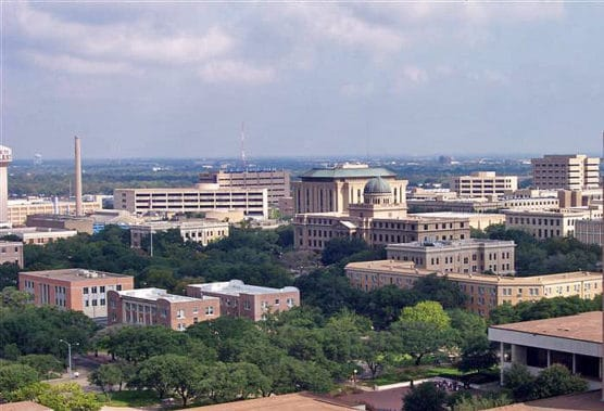 The Texas A&M University campus. (Photo by Wikimedia)