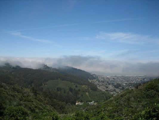 A view of Pacifica, Calif., from the Brooks Fall Trail in San Pedro Valley State Park. (Photo by Eugene Kim/flickr)