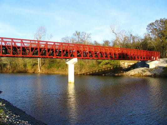 The Stones River Greenway Pedestrian Bridge. (Photo by Brent Moore/flickr)