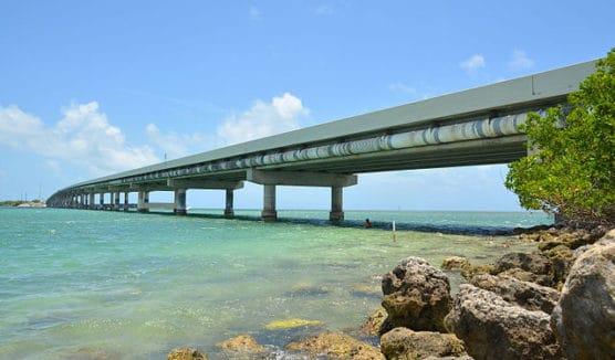 The Overseas Highway in Islamorada, Fla. (Courtesy Wikimedia Commons)