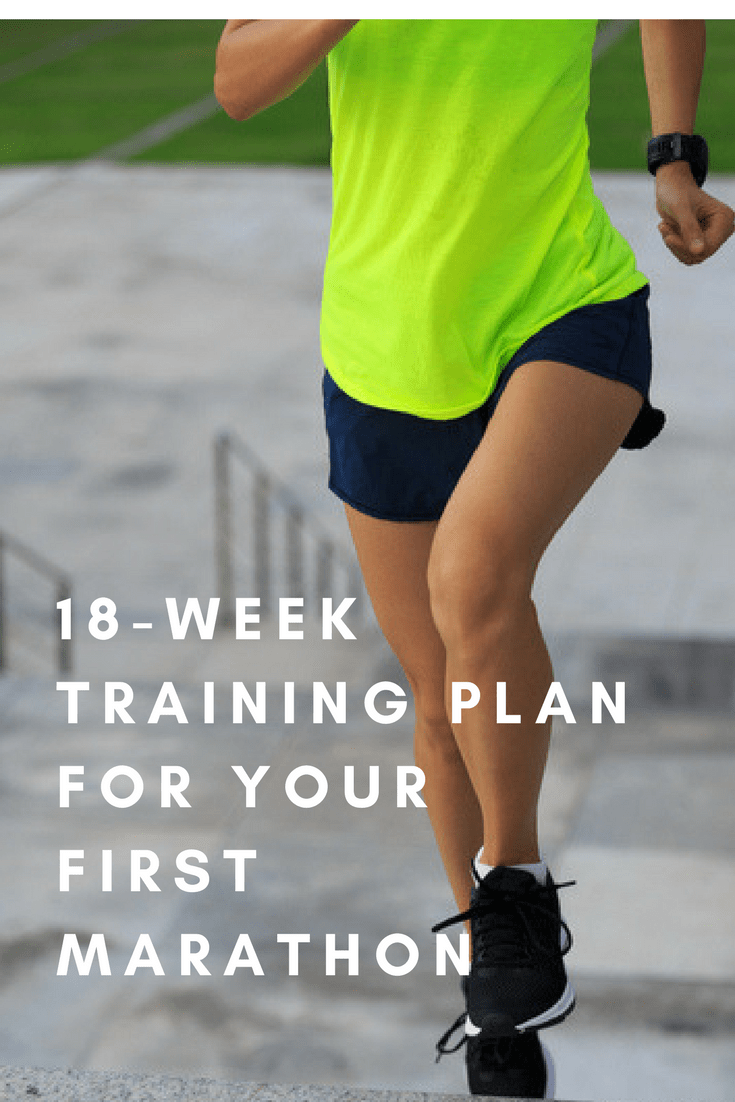 Ready to run your first full marathon? Here's a 4 1/2-month training plan that will get you ready for race day.
