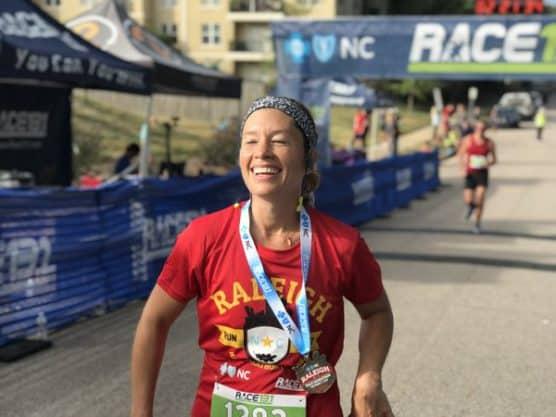 2018 race 13 1 raleigh fall half marathon 10k 5k in for Same day custom t shirts near me