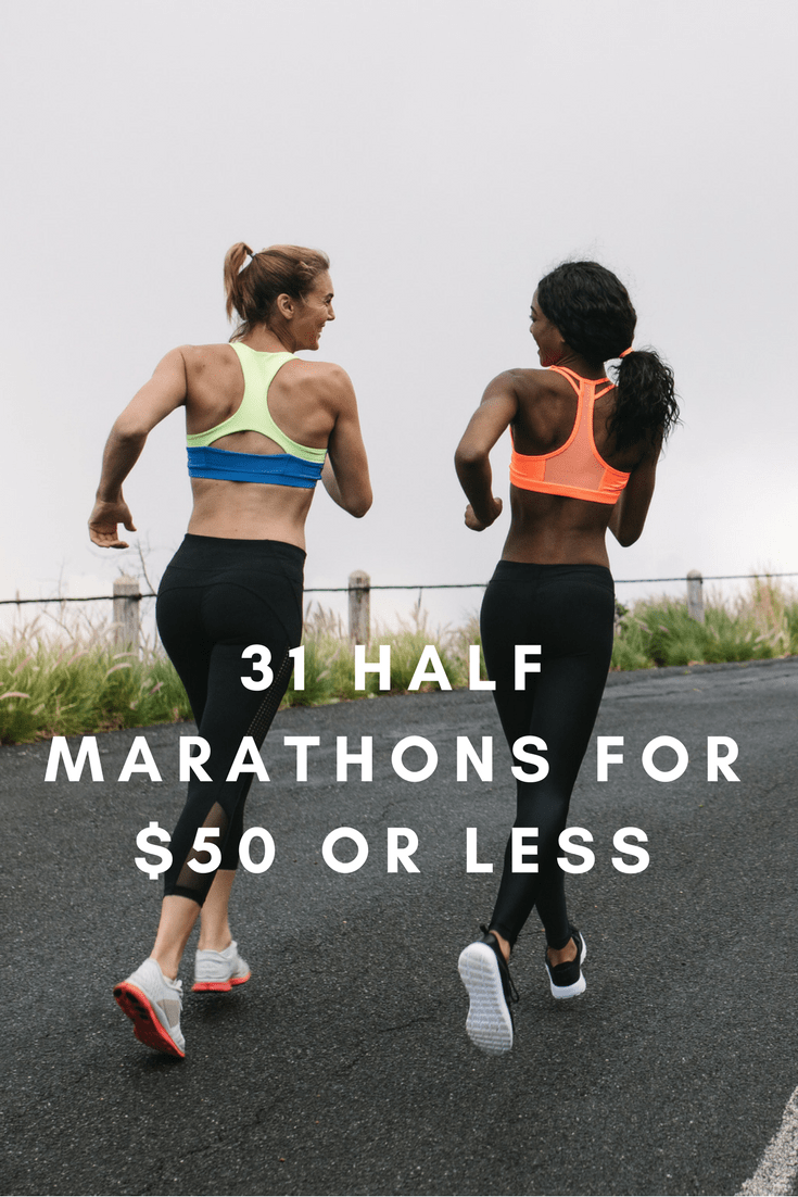 Fun, scenic and challenging half marathon races you can run that won't break the bank, from the coasts of California to the small towns of the Carolinas.