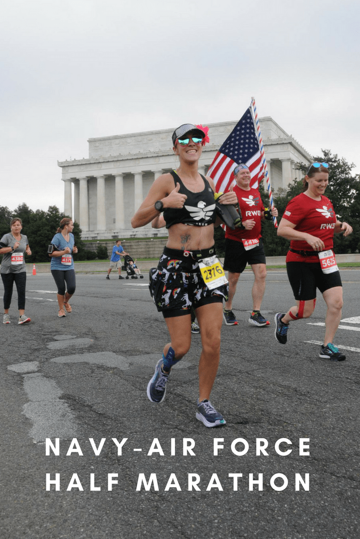 Race info for the 2018 Navy-Air Force Half Marathon & 5-Miler, with a course map, elevation profile, runner reviews, registration, results and more.