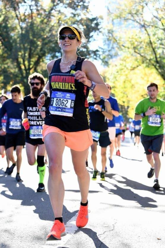 Carissa Liebowitz at the 2018 New York City Marathon.