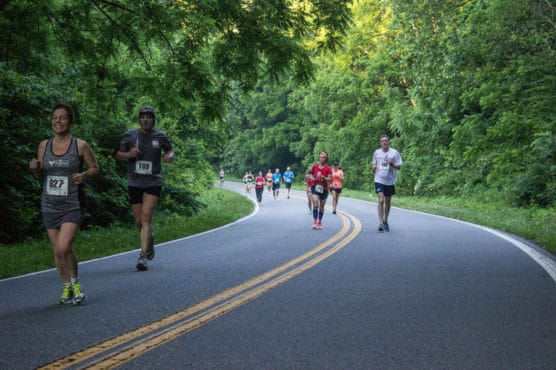 Downhill @ Dawn Half Marathon in Ridgecrest, North Carolina