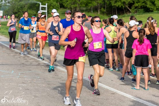 Runners on the course at the Med City Half Marathon