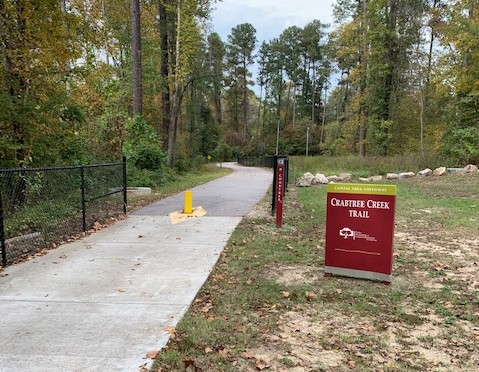 Raleigh's Crabtree Creek Greenway, where the Raleigh Holiday Half Marathon will be run.